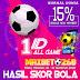 Hasil Pertandingan Sepakbola Tanggal 18 - 19 Agustus 2020