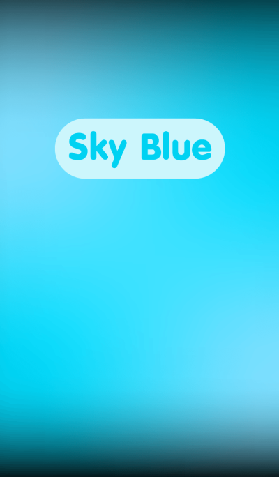 Simple Sky Blue in Black theme v.3