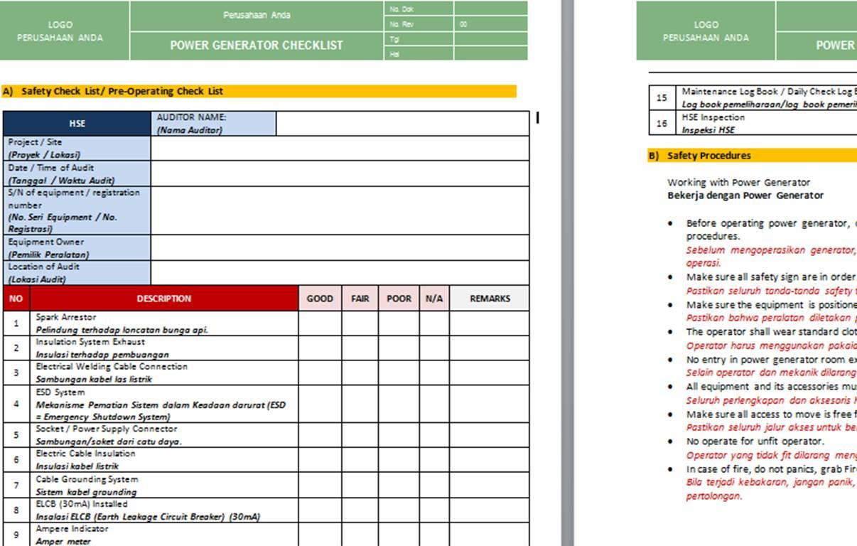 Pt Sistem Manajemen Utama Paket Formulir Kosong Blank