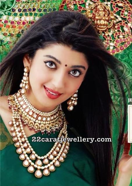 Pranitha Subhash Latest Polki Jewellery