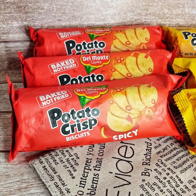 Del Monte Potato Crisp Biscuits - Spicy Flavor Bundle of 3