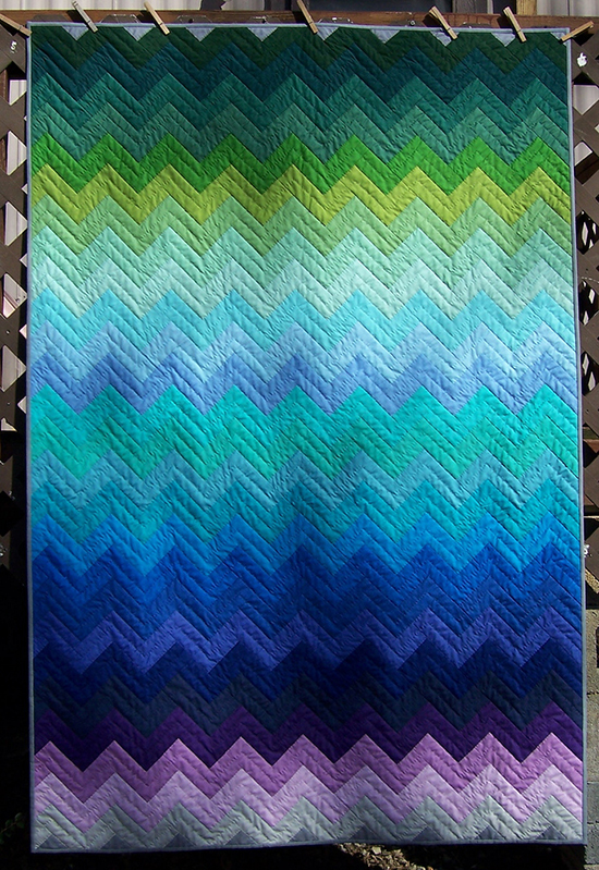 Zig Zag Quilt designed by Amanda Jean of Crazy Mom Quilts