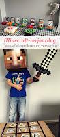 Minecraft verjaardag - feesttafel, spelletjes en versiering
