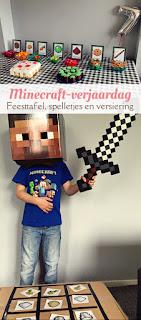 Minecraft verjaardag - spelletjes en versiering