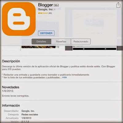 blogger en ios
