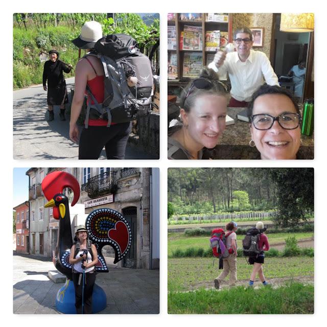 amigos no Caminho de Santiago de Compostela