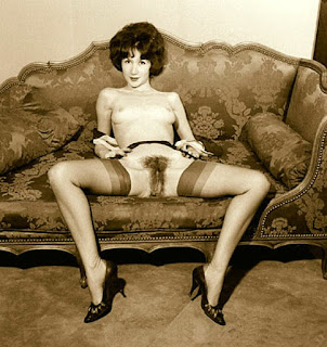 Vintage amateur with hairy pussy