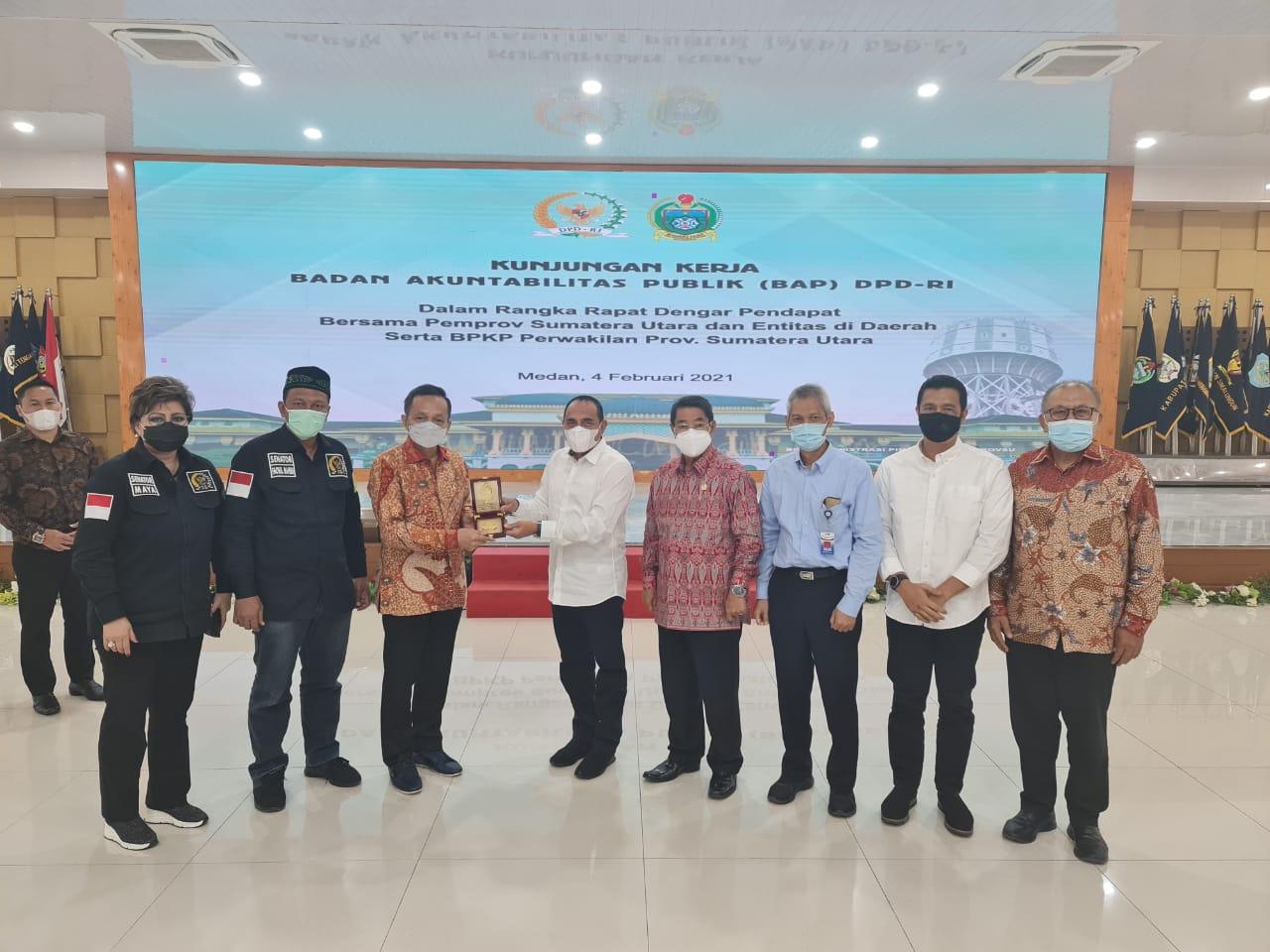 Bupati Sergai Menghadiri Rapat Dengan Anggota BAP DPD RI