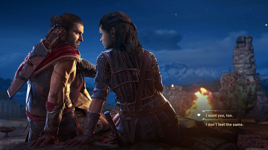 assassins creed odyssey player romance choices