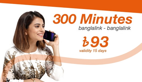 Banglalink 300 Minutes Bundle 93Tk 15 Days