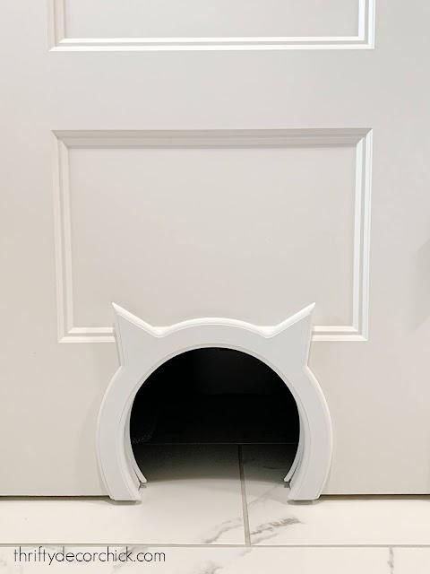 Cat shaped cat door