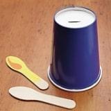 Paper Cup Menorah - Step 1