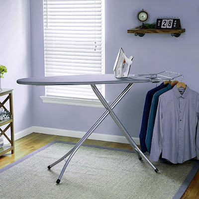 Keekos International Quality Ironing BoardIron Table Stand with Press Holder, Foldable & Height AdjustableIroning Board with Multi-Function Ironing
