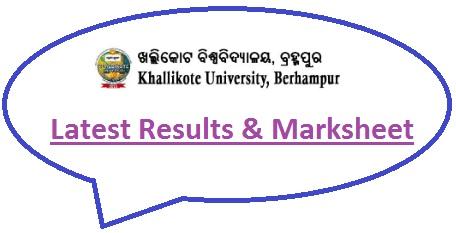 Khallikote University Result 2020
