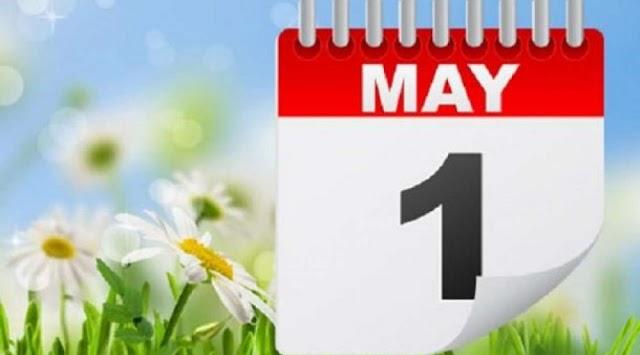 Neradni dani 30. april, 1, 2. i 3. maj
