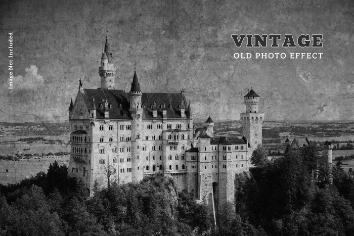 Vintage Old Photo Effect PSD Template