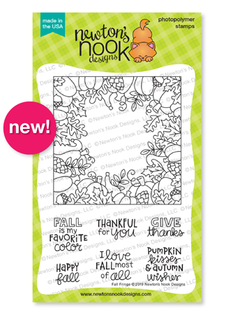 Fall Fringe | Fall Square Frame Stamp Set by Newton's Nook Designs #newtonsnook