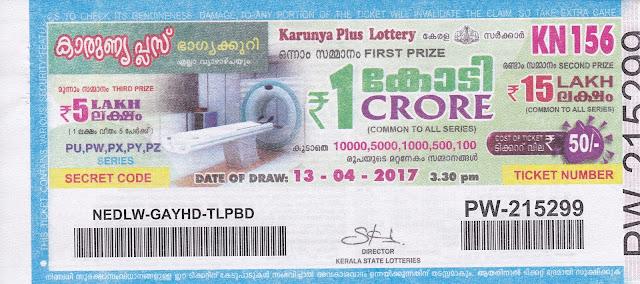 Karunya Plus (KN-136) November 25, 2016