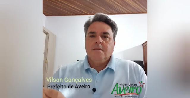 Prefeito de Aveiro agradece e parabeniza o Município por ter atingido a  maior taxa de isolamento social do Estado do Pará - Plantão 24horas News