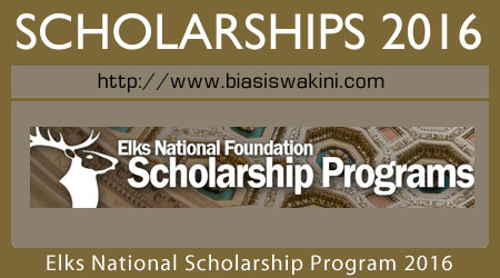 Elks National Foundation Scholarship 2016