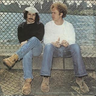 (left to right) Paul Simon and Art Garfunkel