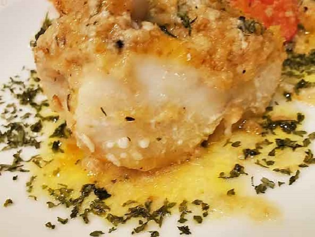 this is a piece of baked Chilean Sea Bass