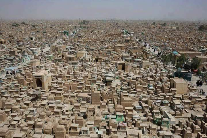 Wadi Us Salaam The Worlds Largest Graveyard Cemetery In An - Wadi us salaam google maps