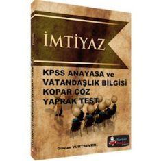 Kariyer Meslek KPSS İmtiyaz Anayasa ve Vatandaşlık Bilgisi Kopar Çöz Yaprak Test (2016)