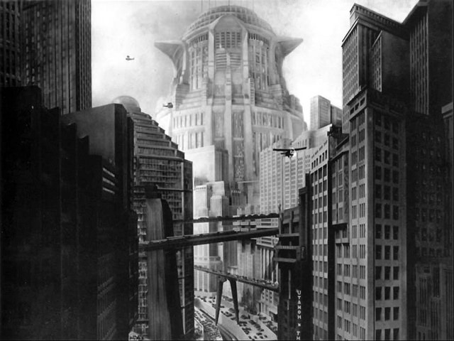 Ciudad de Metrópolis de Fritz Lang