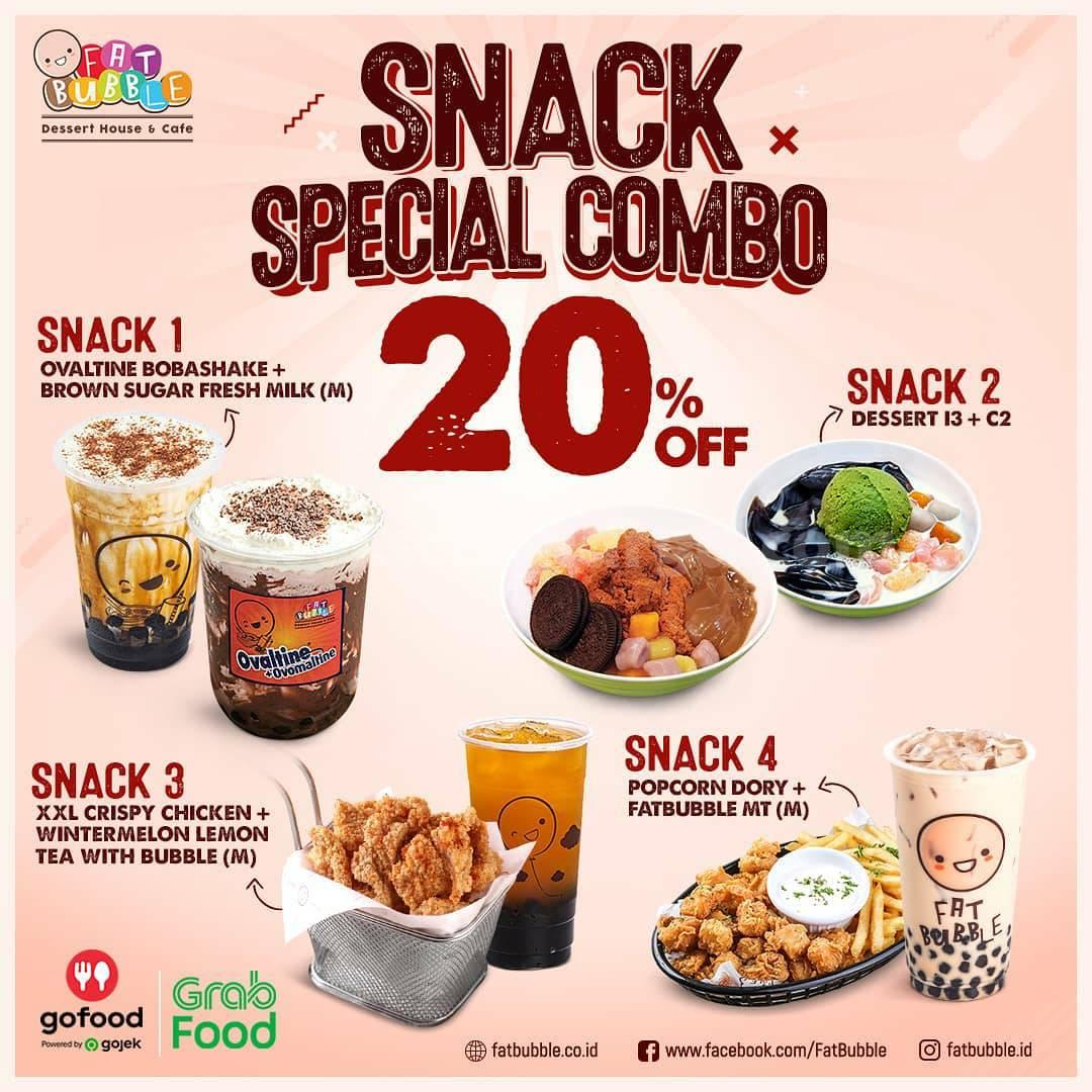 Fat Bubble Promo Snack Special Combo Diskon hingga 20%