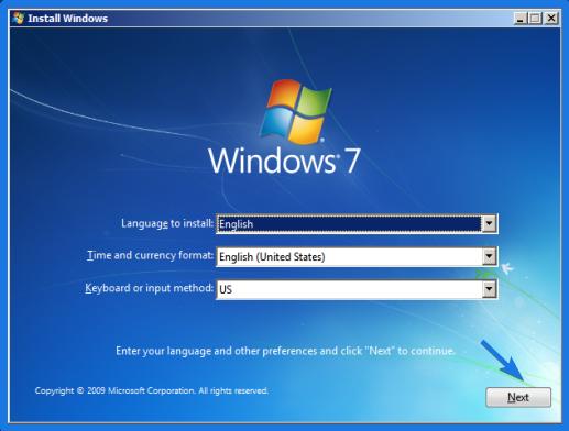 Windows 7 Language