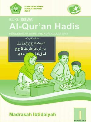 buku siswa mata pelajaran al-qur'an hadits kelas 1 madrasah ibtidaiyah kurikulum 2013