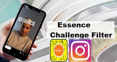 Essence challenge filter | Tantangan menjadi model majalah cover essence di instagram