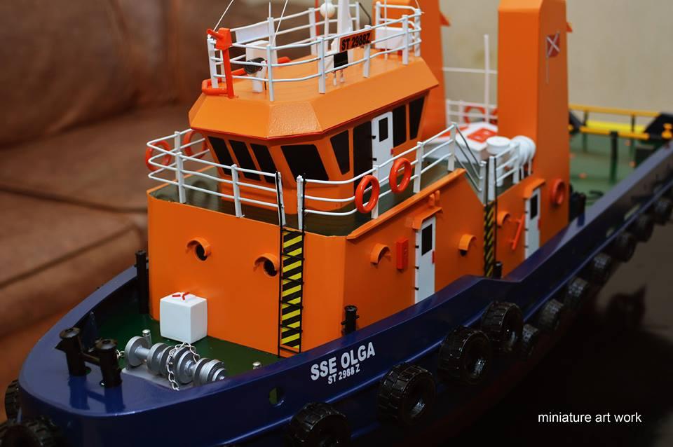 miniatur kapal tugboat tb sse olga milik singapore salvage engineers pt samudra salvage planet kapal rumpun artwork