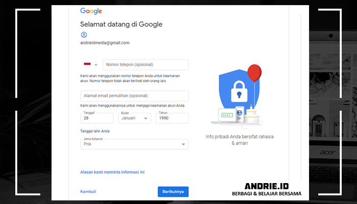 Cara Membuat Akun Google Mail (GMail) Baru Lewat Hp dan PC/Komputer