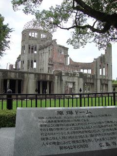 la targa del memoriale della pace