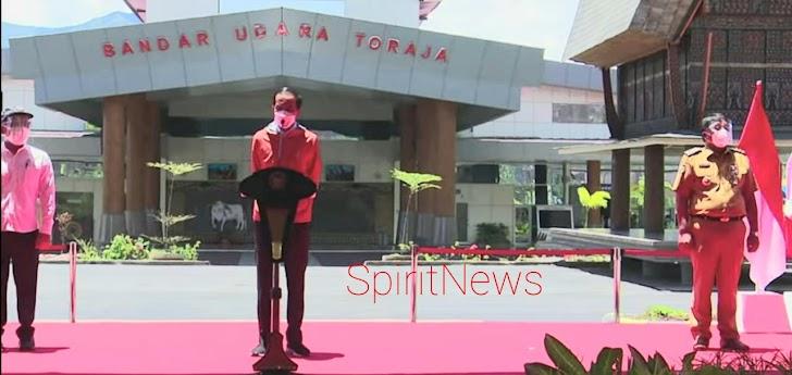 Plt.Gubernur, Pangdam Hsn dan Kapolda Sulsel Sambut Kedatangan Presiden Joko Widodo Dalam Rangka Kunker Diwilayah Sulsel