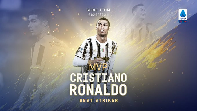 Cristiano Ronaldo awarded Serie A's MVP Striker award