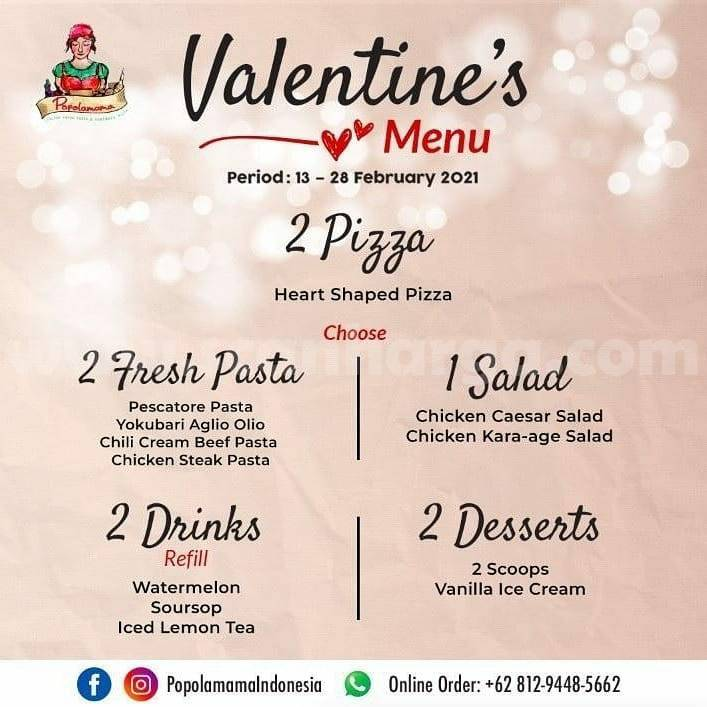 Promo Valentine Popolamama! Twogether Package only Rp 268K nett