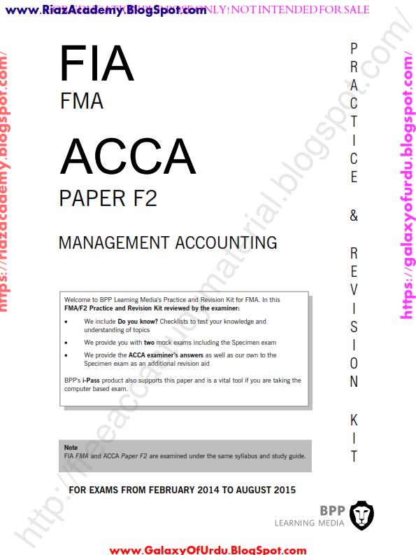acca f2 revision kit bpp free download pdf