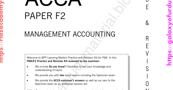 2015-ACCA-F2-PRACTICE AND REVISION KIT - MANAGEMENT