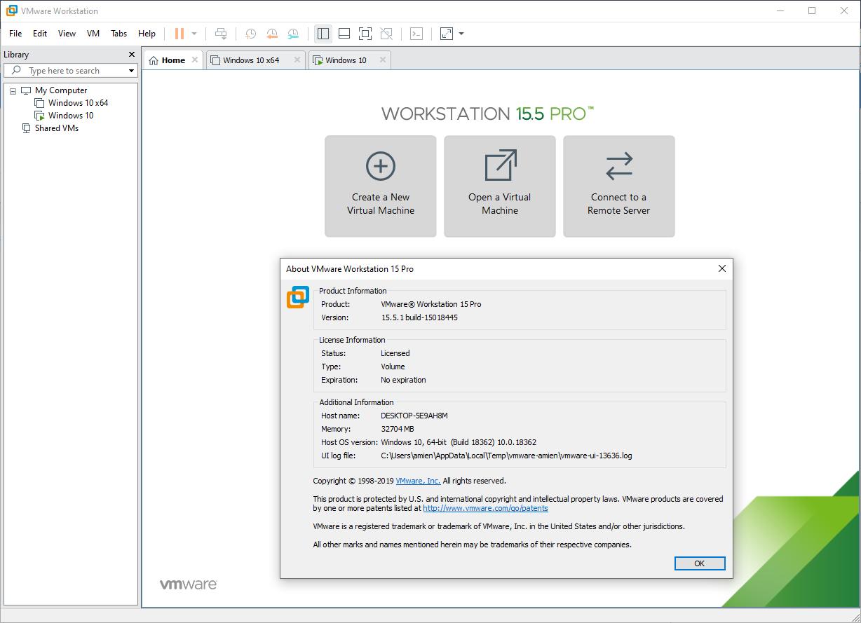 Image result for VMware Workstation Pro 15.5.1 Build 15018445 install