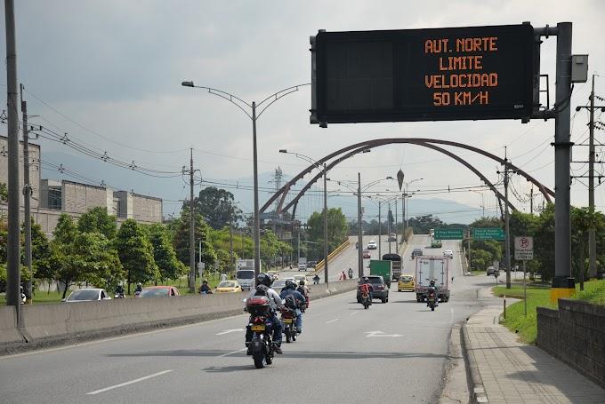¡Mucho ojo! Se aplicarán amonestaciones pedagógicas por exceder el límite de velocidad en la Autopista Norte de Medellín