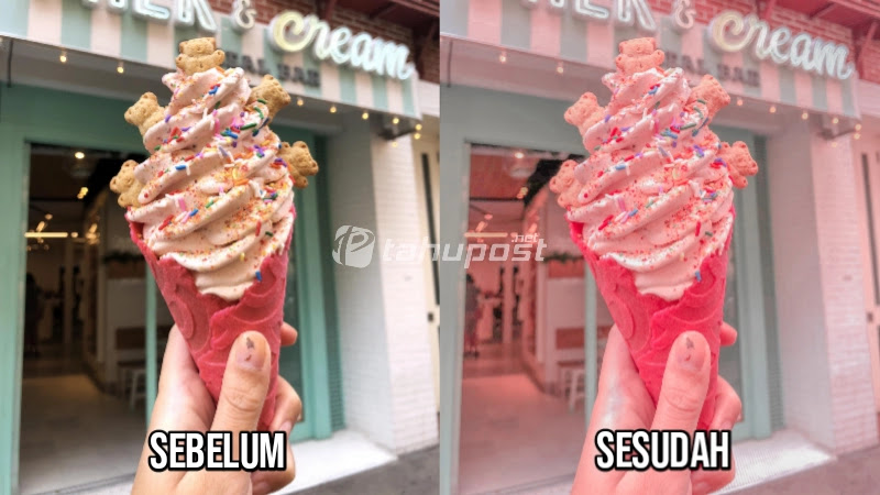 Sebelum dan Sesudah Preset Lightroom Ala Selebgram - Candy Tone