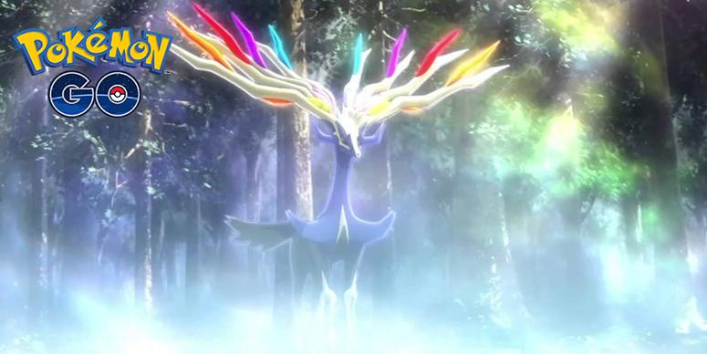 Lendas Luminosas Xerneas Pokémon GO