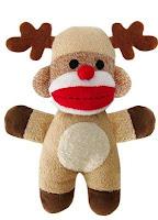 Reindeer-Sock-Monkey-Dog-Squeaker-Toy