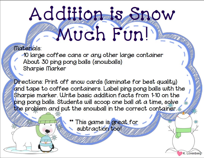 Happy Little Kindergarten Chillin Winter Math And