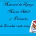 Material de Apoyo (Marzo-Abril) 5° Primaria Ciclo Escolar 2018-2019.