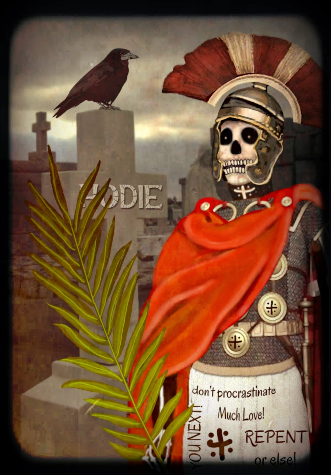 Saint Expedite as Baron Samedi in New Orleans Voudou