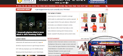 Auto Play on Times of India